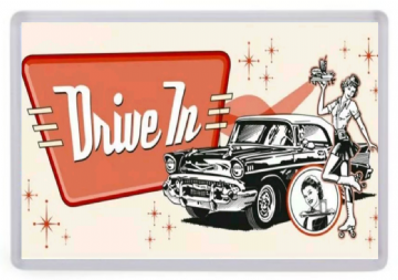 Drive In Diner Fridge Magnet.1950's Waitress
